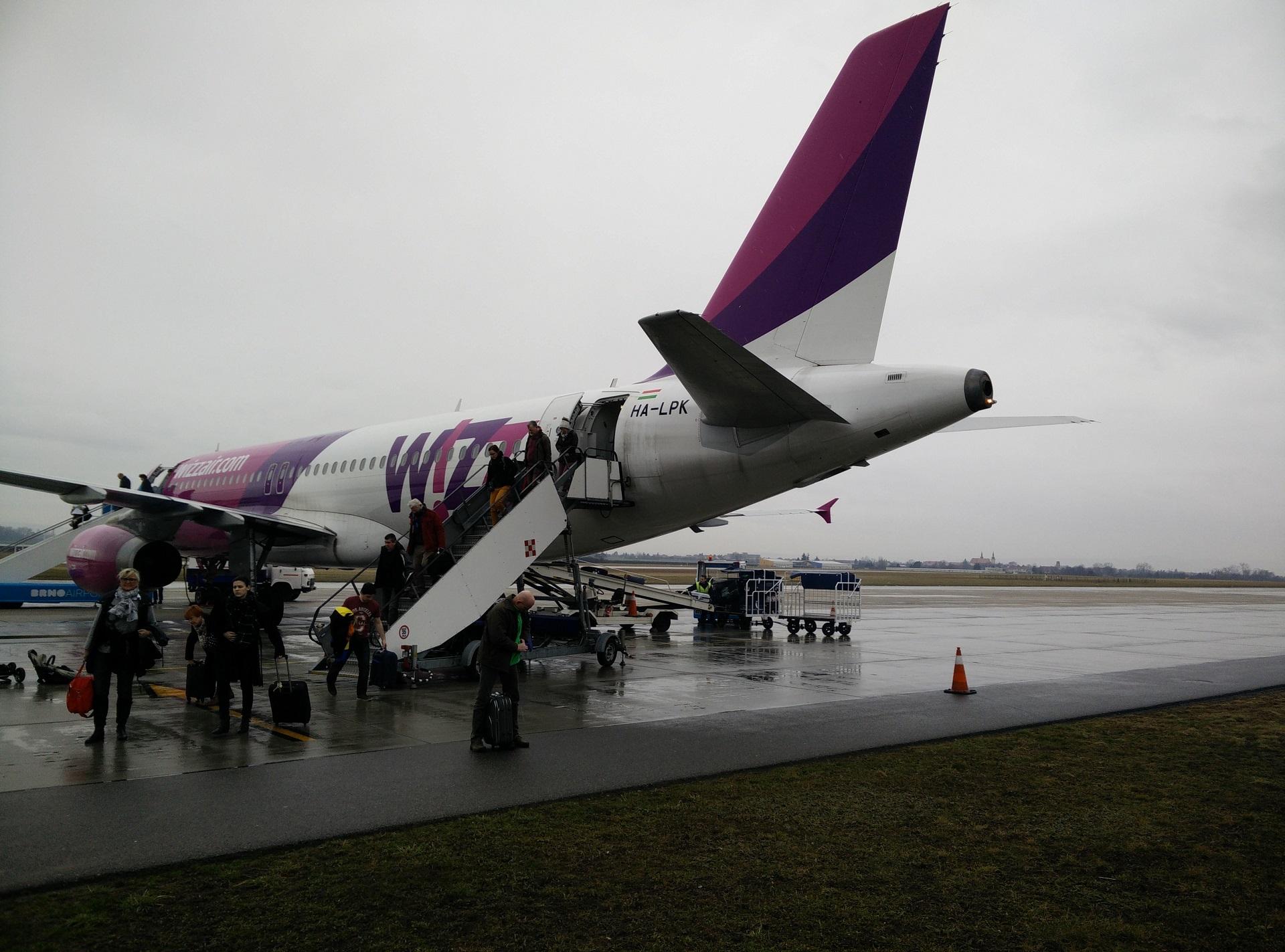 WizzAir flight to BRNO